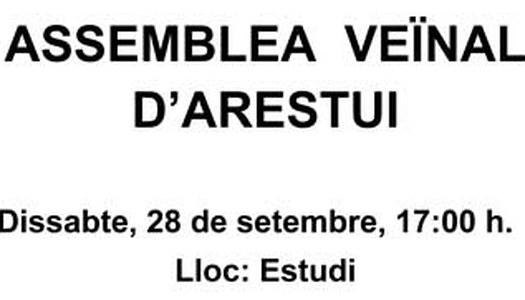 Resum assemblea veïnal d'Arestui 28/09/2019